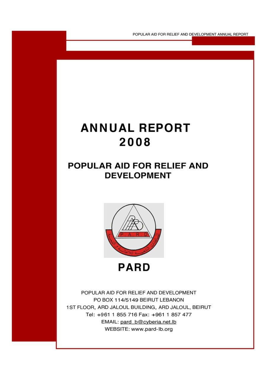 PARD Annual Report 2008